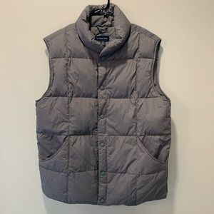 Lands End | Men's Down Insulated Gray Vest - Small